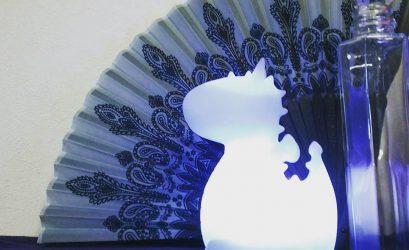 ブルードラゴンの青い部屋。