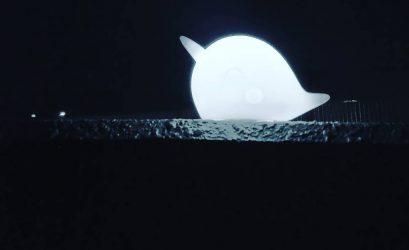 見えない満月の代わりに、イッカク。